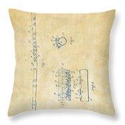 1914 Flute Patent - Vintage Throw Pillow