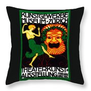 1914 Zurich Theater Arts Festival Throw Pillow
