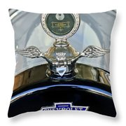1915 Chevrolet Touring Hood Ornament Throw Pillow