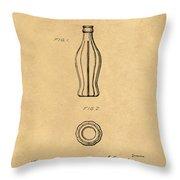 1915 Coca Cola Bottle Design Patent Art 5 Throw Pillow