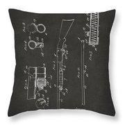 1915 Ithaca Shotgun Patent Gray Throw Pillow