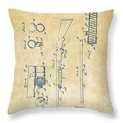 1915 Ithaca Shotgun Patent Vintage Throw Pillow