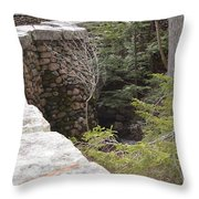 1917 Carriage Road Bridge Jordan Stream Acadia Maine Throw Pillow
