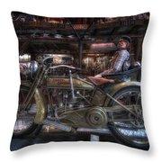 1917 Harley Davidson Throw Pillow