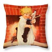 1917 - Modern Priscilla Magazine Cover - December Throw Pillow