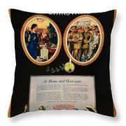 1918 - Colgate Advertisement - World War I - Color Throw Pillow