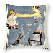 1918 - Luxite Hosiery Advertisement - Color Throw Pillow