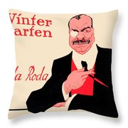 1918 - Wintergarten Poster - Roda Roda - Stephan Krotowski - Color Throw Pillow