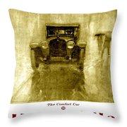1918 - Hupmobile Automobile Advertisement - Color Throw Pillow