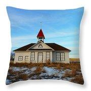 1918 Schoolhouse Macabe Montana Throw Pillow