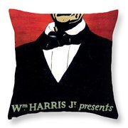 1919 - John Drinkwater's Play Abraham Lincoln Theatrical Poster - Color Throw Pillow