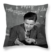 1920s 1930s Boy At Desk In Classroom Throw Pillow