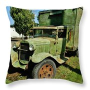 1920s Ford Moving Truck Throw Pillow