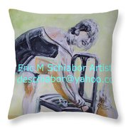 1920s Girl Throw Pillow