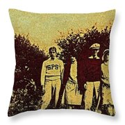 1920s Golf Throw Pillow