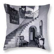 1920s Upscale Home Entry With Spiral Throw Pillow