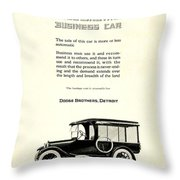 1921 - Dodge Brothers Business Car Truck Advertisement Throw Pillow