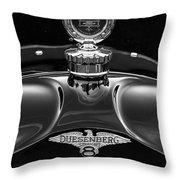 1921 Duesenberg Hood Ornament Throw Pillow
