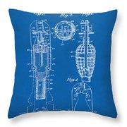 1921 Explosive Missle Patent Blueprint Throw Pillow by Nikki Marie Smith