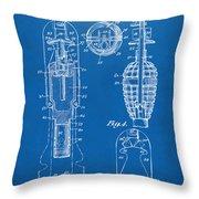 1921 Explosive Missle Patent Minimal Blueprint Throw Pillow by Nikki Marie Smith