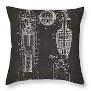 1921 Explosive Missle Patent Minimal Gray Throw Pillow