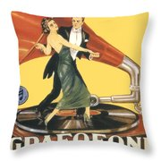 1922 - Columbia Gramophone Company Italian Advertising Poster - Color Throw Pillow