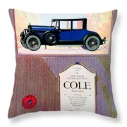 1922 - Cole 890 - Advertisement - Color Throw Pillow