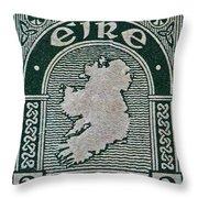 1922 Ireland Eire Stamp Throw Pillow