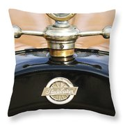 1922 Studebaker Touring Hood Ornament Throw Pillow
