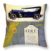 1923 - Cole 890 - Advertisement - Color Throw Pillow