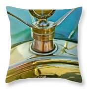 1923 Ford Model T Hood Ornament Throw Pillow