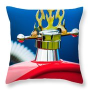1923 Ford T-bucket Aftermarket Hood Ornament Throw Pillow