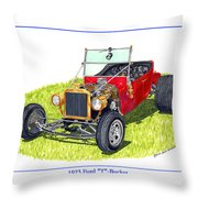 T Bucket Ford 1923 Throw Pillow