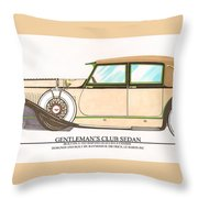 1923 Hispano Suiza Club Sedan By R.h.dietrich Throw Pillow