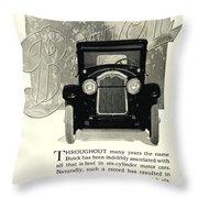 1924 - Buick Six Advertisement Throw Pillow