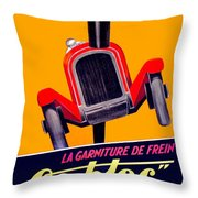 1924 - Ca-bloc Brakes French Advertisement Poster - Color Throw Pillow