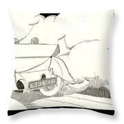 1924 - Georges Irat La Voiture D'elite French Automobile Advertisement Throw Pillow