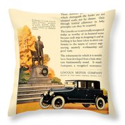 1924 - Lincoln Automobile - Color Throw Pillow