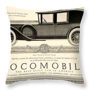 1924 - Locomobile Victoria Sedan Automobile Advertisement Throw Pillow