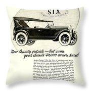 1924 - Oldsmobile Six Automobile Advertisement Throw Pillow