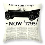 1924 - Paige Automobile Advertisement Throw Pillow