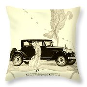 1924 - Rickenbacker Automobile Advertisement Throw Pillow