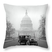 1924 Ford Lincoln At U. S. Capitol Throw Pillow
