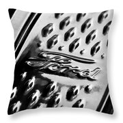 1924 Ford T Roadster Emblem -303bw Throw Pillow