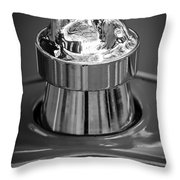 1924 Ford T Roadster Hood Ornament -331bw Throw Pillow