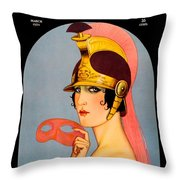 1924 - Theatre Magazine Cover - Color Throw Pillow