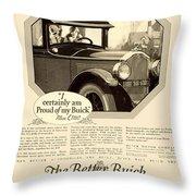 1925 - Buick Automobile Advertisement Throw Pillow