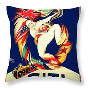 1925 - Siti Radio Receiver Advertisement Poster - Color Throw Pillow