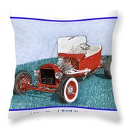 1925 Ford Hot Rod T-bucket Throw Pillow