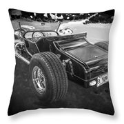 1925 Ford Model T Hot Rod Bw Throw Pillow
